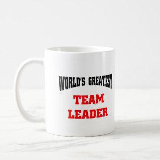 El líder del equipo más grande del mundo, mundo má taza de café