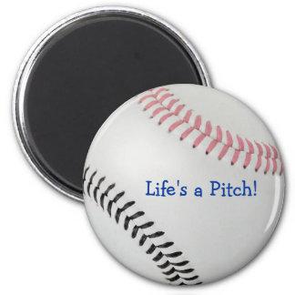 ¡El _Life de Baseball_Color Laces_pk_bk es una ech Imán Para Frigorifico