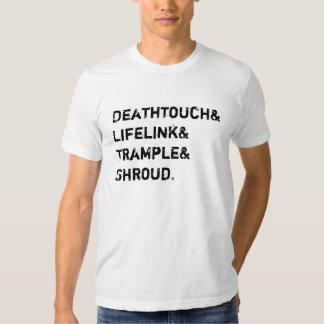 El lifelink de Deathtouch pisotea la cubierta Remeras