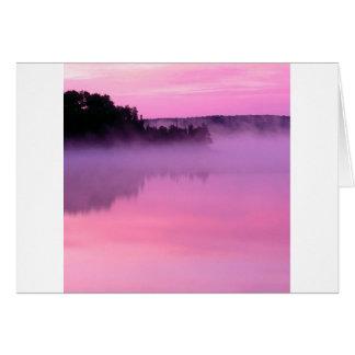 El límite de la bandera del amanecer del lago rieg felicitaciones