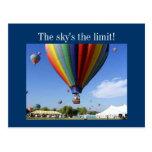 ¡El límite del cielo! Postal