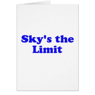 el límite del cielo tarjeton