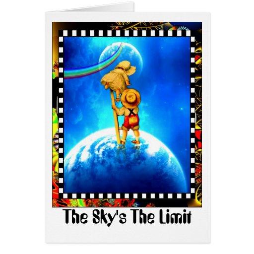 El límite del cielo tarjeta de felicitación