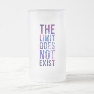El límite no existe taza cristal mate