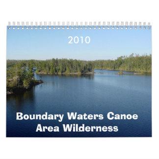 El límite riega el desierto del área de la canoa calendarios