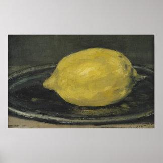 El limón, 1880 poster