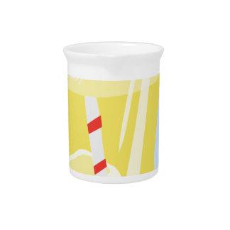 El limón heló té jarra de beber