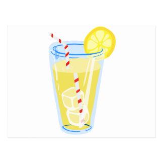 El limón heló té postal