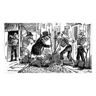 """""""El limpiador de calle feliz Calaveras """" Tarjeta De Negocio"""