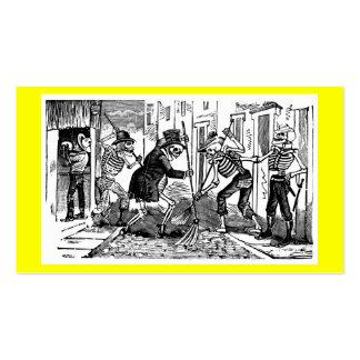 """""""El limpiador de calle feliz Calaveras """" Tarjetas De Visita"""