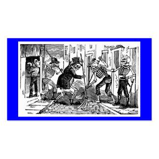 """""""El limpiador de calle feliz Calaveras """" Plantilla De Tarjeta De Visita"""
