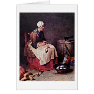 El limpiador del nabo de Jean-Baptiste Chardin Tarjeton