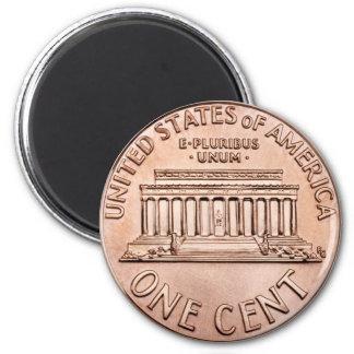 El Lincoln memorial 2005 1 dinero de la moneda de  Imán Redondo 5 Cm