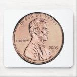 El Lincoln memorial 2005 1 dinero de la moneda de  Tapete De Raton
