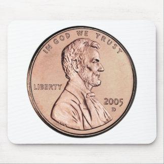 El Lincoln memorial 2005 1 dinero de la moneda de  Alfombrillas De Ratón
