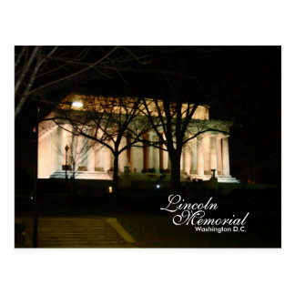 El Lincoln memorial, C.C. de Washington Tarjetas Postales
