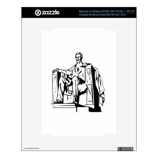 El Lincoln memorial Calcomanía Para El NOOK