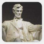 El Lincoln memorial Calcomanías Cuadradas