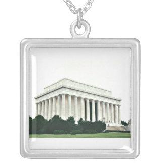 El Lincoln memorial Colgante Cuadrado