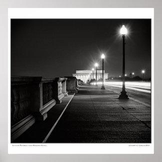 El Lincoln memorial del puente conmemorativo Póster