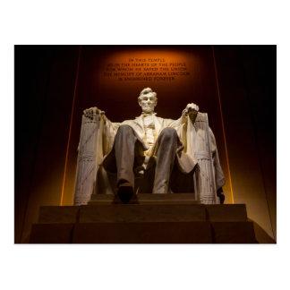 El Lincoln memorial en la noche - C.C. de Postales