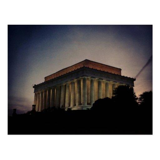 El Lincoln memorial en la noche Tarjetas Postales