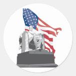 el Lincoln memorial Etiqueta