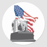 el Lincoln memorial Etiqueta Redonda