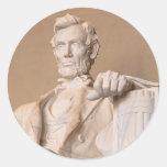 El Lincoln memorial Etiquetas Redondas
