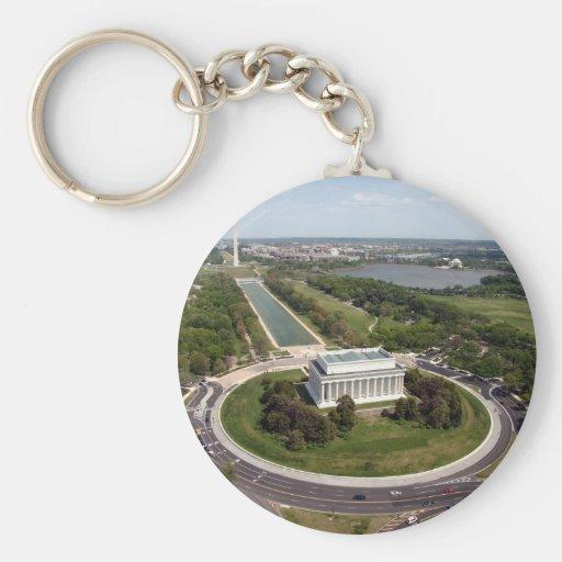 El Lincoln memorial Llavero Redondo Tipo Pin