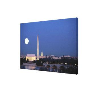 El Lincoln memorial, monumento de Washington, los  Lona Envuelta Para Galerias
