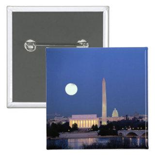 El Lincoln memorial, monumento de Washington, los  Pin Cuadrada 5 Cm