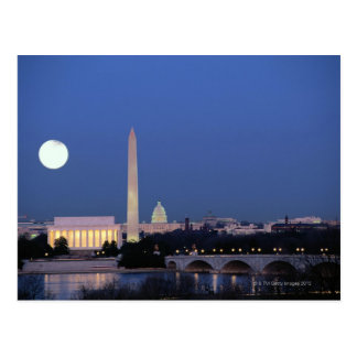 El Lincoln memorial, monumento de Washington, los Tarjetas Postales