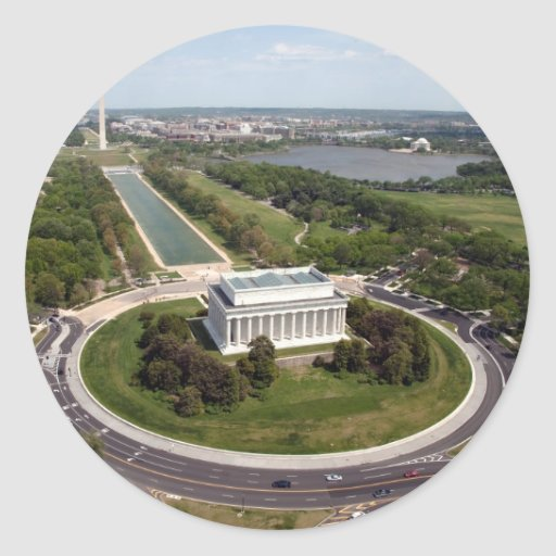 El Lincoln memorial Pegatina Redonda
