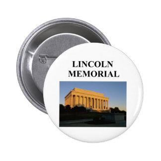 el Lincoln memorial Pin Redondo 5 Cm