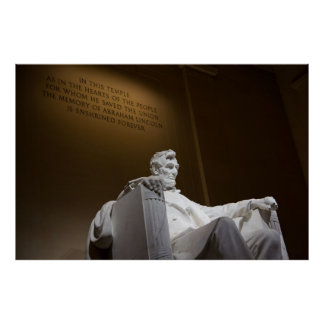 El Lincoln memorial Poster