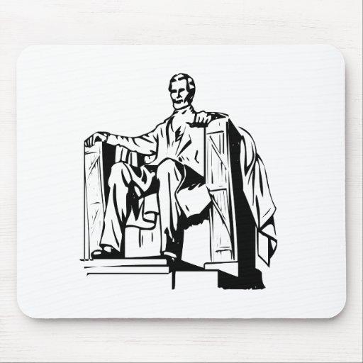 El Lincoln memorial Tapete De Ratones