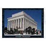 El Lincoln memorial Tarjeta De Felicitación