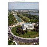 El Lincoln memorial Tarjetón