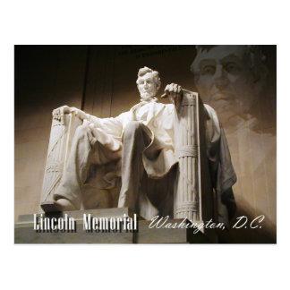 El Lincoln memorial, Washington, C.C. Postal