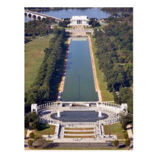 El Lincoln memorial y el monumento de la Segunda Postales