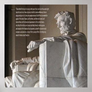 El Lincoln memorial y proclamación de la emancipac Impresiones