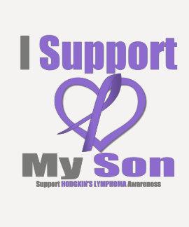 El linfoma de Hodgkin apoyo a mi hijo Camisetas