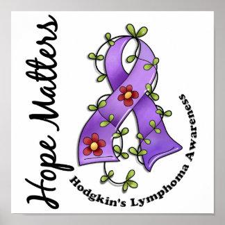 El linfoma de Hodgkin de las materias de la espera Póster