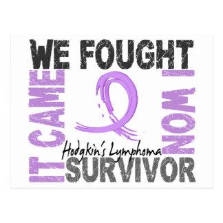 El linfoma de Hodgkin del superviviente 5 Postales