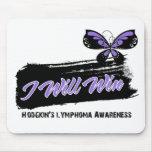 El linfoma de Hodgkin ganaré la mariposa Alfombrillas De Ratón