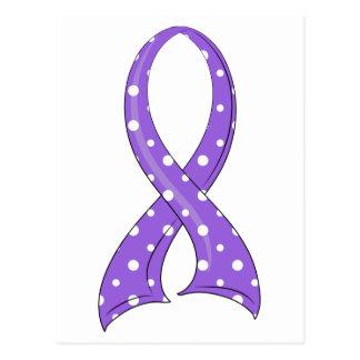El linfoma de Hodgkin violeta de la cinta del Tarjetas Postales