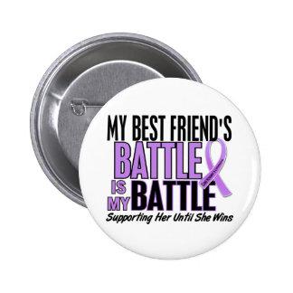 El linfoma de mi batalla demasiado 1 mejor amigo pin redondo de 2 pulgadas