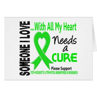 El linfoma de Non-Hodgkins necesita una curación 3 Tarjetas