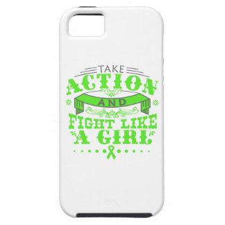 El linfoma de Non-Hodgkins toma lucha de la acción iPhone 5 Cárcasas